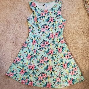 Tropical Floral Skater Dress